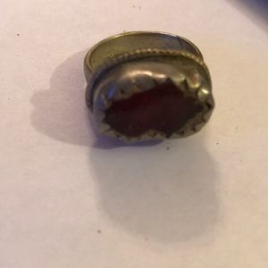 Antique Romanian glass ring
